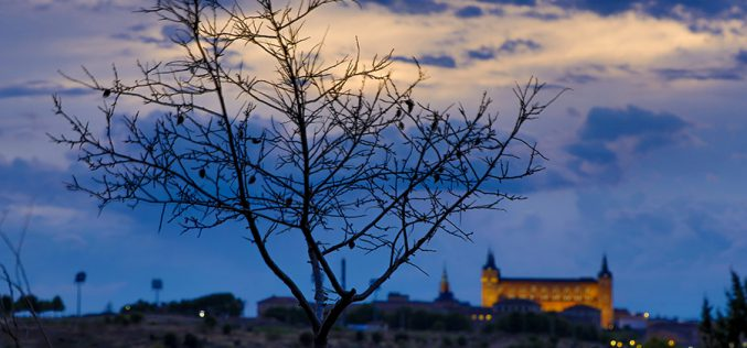 Paseo Fotográfico – Atardecer desde la Fuente del Moro y Puerta de Bisagra de noche